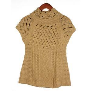 Anthropologie Sparrow Open Weave Mock Neck Sweater